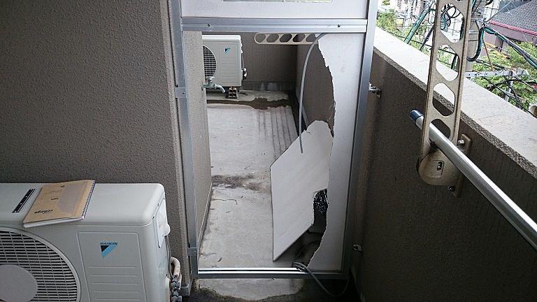 強風で隔板破損 ベストホーム修繕工事