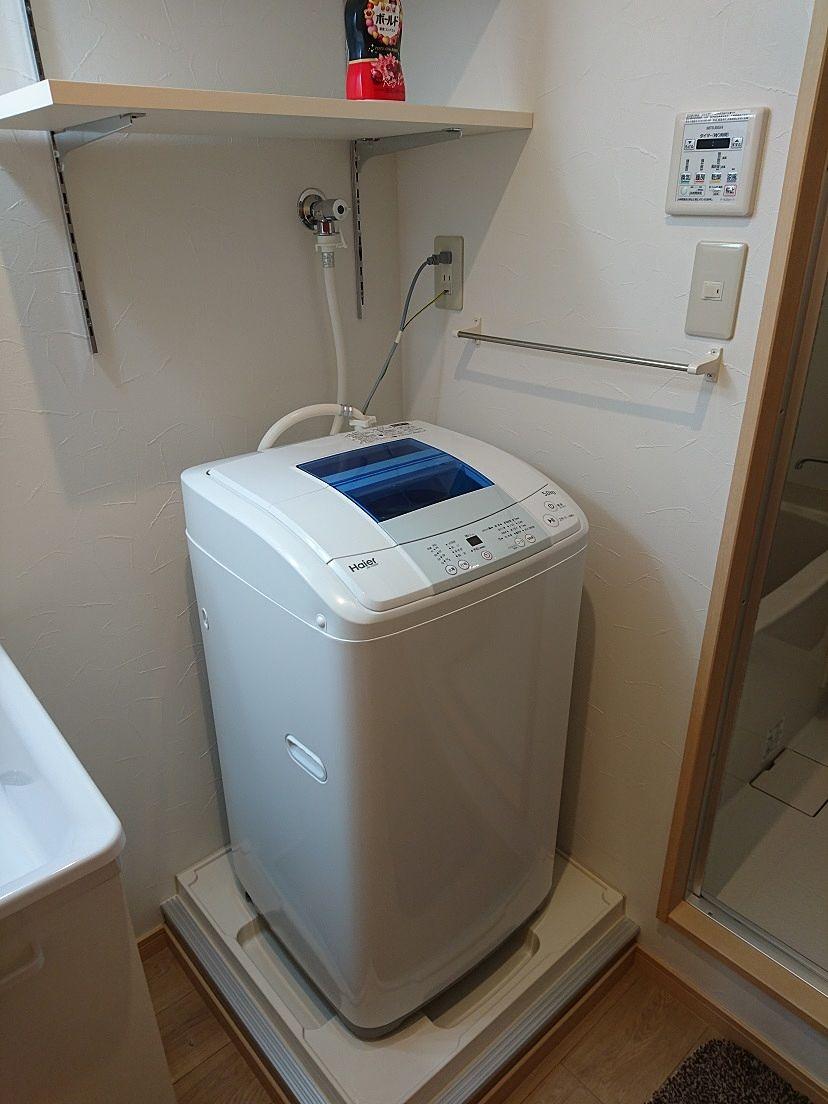 5.5キロ用全自動洗濯機。浴室乾燥ついています。
