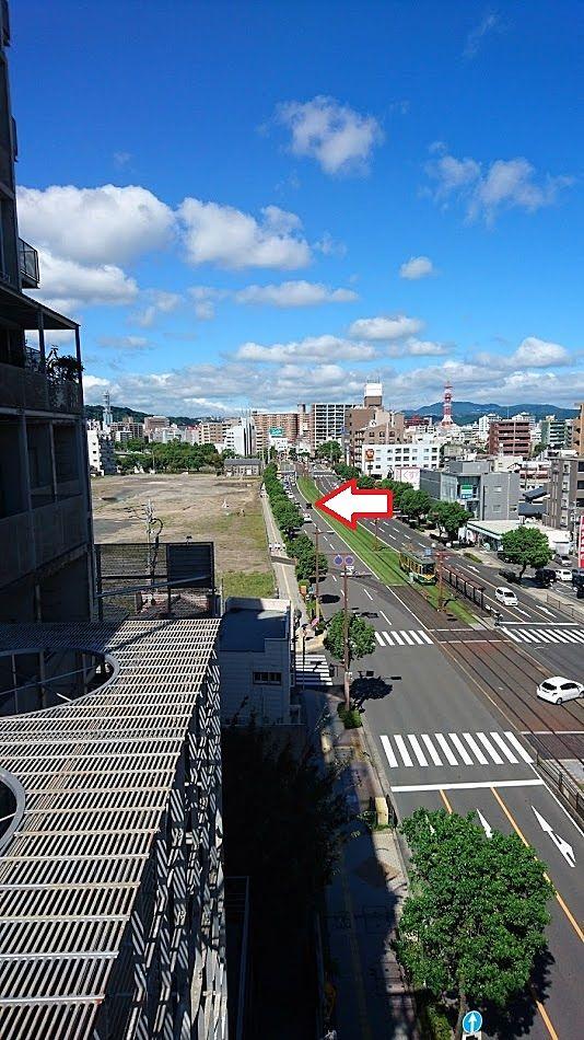 奥方向は天文館方面。鹿児島中央駅へのアクセスも良好。